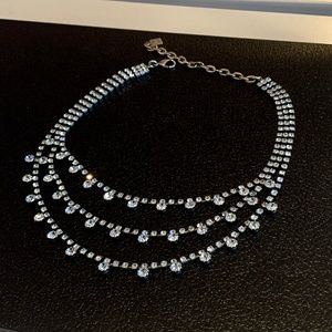 Crystal Embellishment Multi Stand Necklace